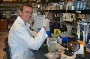 Joshua Stokell in lab