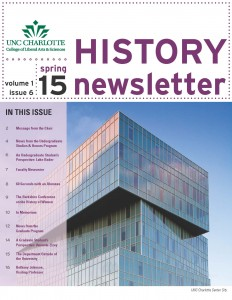 History newsletter front page